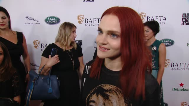 interview madeline brewer on why the bafta la tv tea party is a mustattend event at 2018 bafta los angeles bbc america tv tea party in los angeles ca - bafta la tea party stock videos and b-roll footage