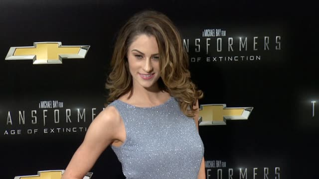 """madeline mulqueen at """"transformers: age of extinction"""" new york premiere at ziegfeld theatre on june 25, 2014 in new york city. - new age stock videos & royalty-free footage"""