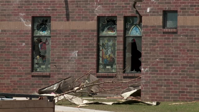 kfor madill ok us damaged church on friday apr 24 2020 a person has died as a result of the tornado in madill according to marshall county emergency... - blowhole stock videos & royalty-free footage