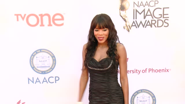stockvideo's en b-roll-footage met madinah ali at the 46th annual naacp image awards arrivals at pasadena civic auditorium on february 06 2015 in pasadena california - pasadena civic auditorium