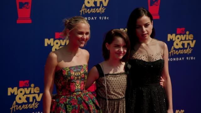 Madison Iseman Mckenna Grace and Katie Sarife at the 2019 MTV Movie TV Awards at Barkar Hangar on June 15 2019 in Santa Monica California