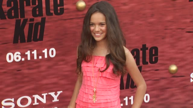 Madison Pettis at the 'The Karate Kid' Premiere at Westwood CA