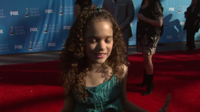 Madison Pettis on the event and what she loves about her career at the 39th Annual NAACP Image Awards at the Shrine Auditorium in Los Angeles...