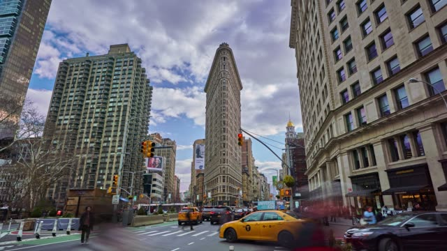 madison square and flatiron building new york 2018 - flatiron building manhattan stock videos and b-roll footage