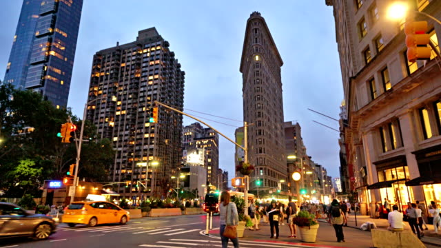 madison square and flatiron building - avenue stock videos & royalty-free footage