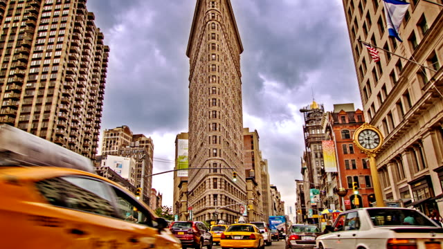 madison square flatiron - flatiron building manhattan stock videos and b-roll footage