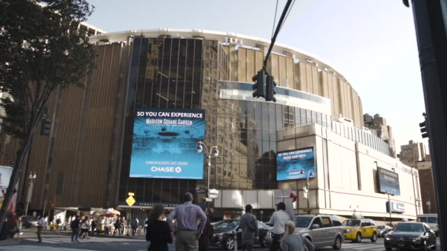 madison square garden - new york city - establishing shot - summer - new york city penn station stock videos and b-roll footage
