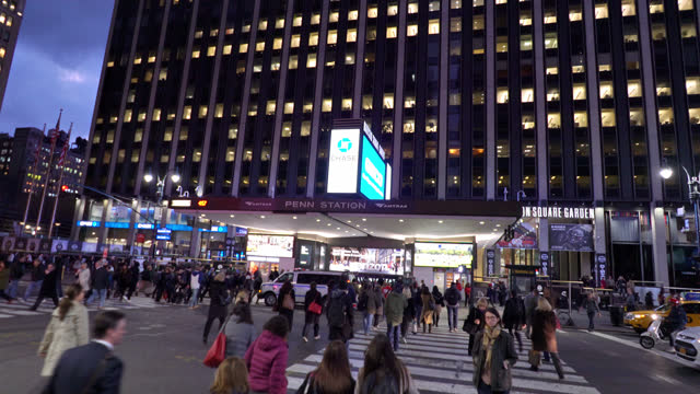 madison square garden. penn station - new york city penn station stock videos & royalty-free footage