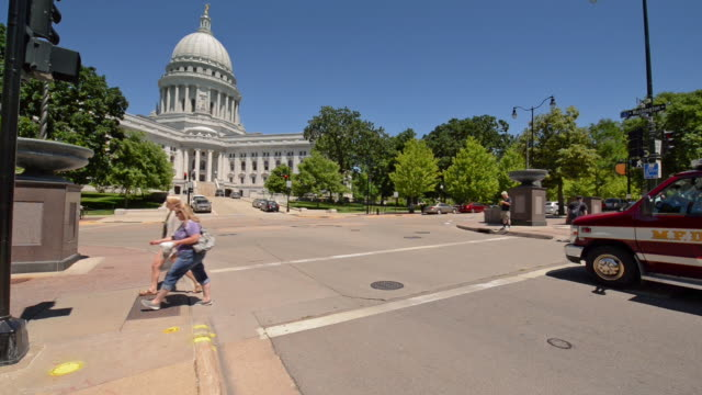 madison wisconsin capital - capital cities stock videos & royalty-free footage