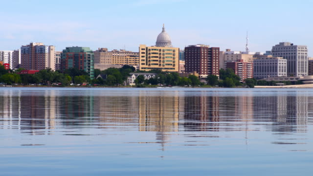 madison, wisconsin - capital cities stock videos & royalty-free footage