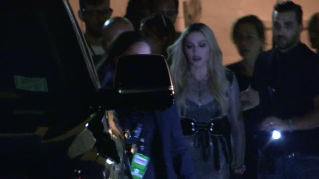 Madonna departs her performance with Taylor Swift at the 2015 iHeartRadio Music Awards LA at Celebrity Sightings in Los Angeles on March 29 2015 in...