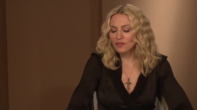 madonna on being called the 'material girl' and how the irony of the title of the song was never understood at the interview at the majestic... - media interview stock videos and b-roll footage