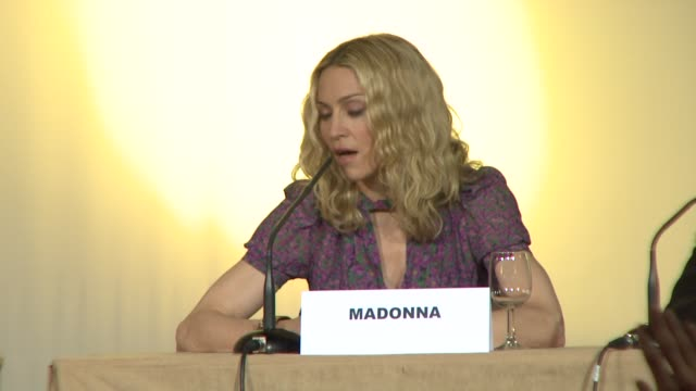 madonna on her adopted son david's parents at the 2008 cannes film festival i am because we are press conference in cannes on may 22 2008 - adoption stock videos & royalty-free footage