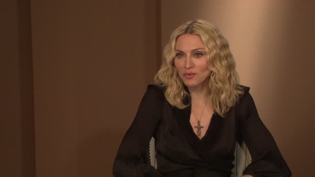 madonna on how malawi has changed her how she's become less judgmental and on how life is not supposed to be taken literally at the interview at the... - media interview stock videos and b-roll footage