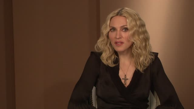 madonna on the absurdity of the press following her to malawi at the interview at the majestic hotel/salon royan ii room in cannes on may 22 2008 - media interview stock videos and b-roll footage