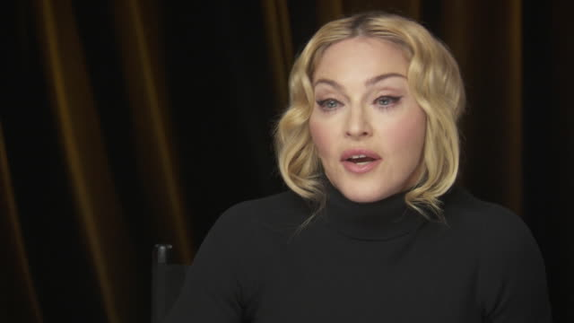 madonna says that education is a basic human right while backstage at the chime for change benefit event to promote women's rights around the world. - human rights or social issues or immigration or employment and labor or protest or riot or lgbtqi rights or women's rights stock videos & royalty-free footage