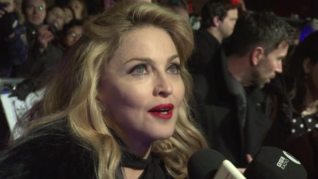 madonna w.e. uk premiere at odeon kensington on january 11, 2012 in london, england - dolce & gabbana stock videos & royalty-free footage