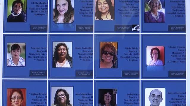 stockvideo's en b-roll-footage met madres chilenas recurren a las redes sociales y a pruebas de adn para intentar recuperar a sus hijos que fueron robados cuando eran bebes y dados en... - adn