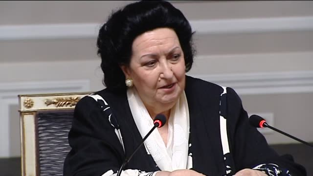 madrid 11 may spanish opera soprano montserrat caballé still performing at 79 to everyone's surprise says she has no plans to slow down she sings... - montserrat caballé stock videos & royalty-free footage