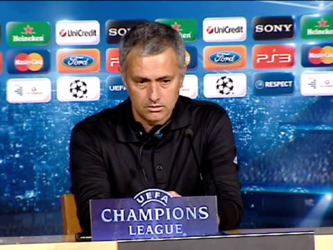 vídeos y material grabado en eventos de stock de madrid, 15 mar .- .- real madrid coach jose mourinho praised his team's performance in its champions league match against cska moscow on wednesday,... - 0 11 months