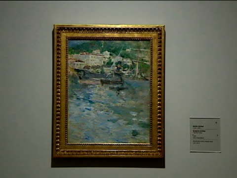 madrid, 16 nov , .- the thyssen museum in madrid has opened the first monographic exhibition in spain on french painter berthe morisot, a woman who... - impressionism stock videos & royalty-free footage