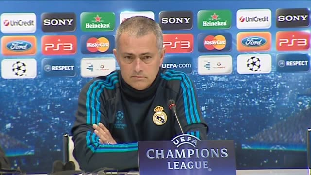 madrid, 24 apr , .- real madrid manager jose mourinho is confident his team can defeat bayern munich at the santiago bernabeu stadium and qualify for... - semifinal round stock videos & royalty-free footage