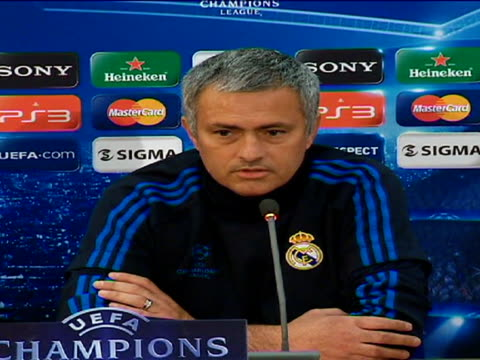 madrid, 26 mar .- real madrid coach jose mourinho admits that his team are favourites in champions league quarterfinal against apoel but stated that... - semifinal round stock videos & royalty-free footage