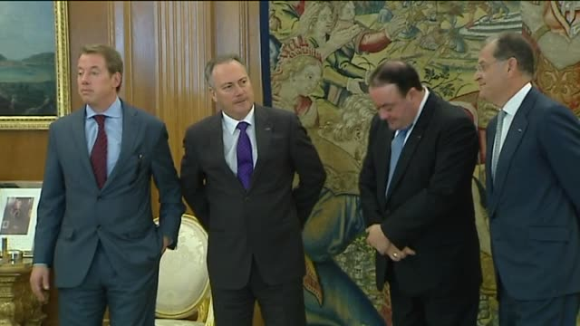 Madrid 28 feb Spanish King Juan Carlos has received president of Ford Motor Company Bill Clay Ford Jr at the Zarzuela Palce in Madrid where they have...