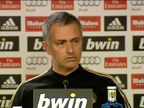 madrid 3 mar during a press conference held at valdebebas sport premises real madrid's portuguese head coach jose mourinho refused to inform the... - traditionally portuguese stock videos and b-roll footage