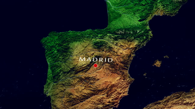 madrid 4k  zoom in - madrid stock videos and b-roll footage
