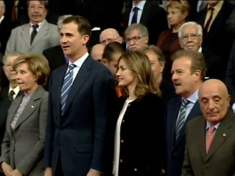 jesus bartolome spain's prince felipe highlighted the need for 'quality serious responsible and creative television that accurately delivers and... - sense stock-videos und b-roll-filmmaterial