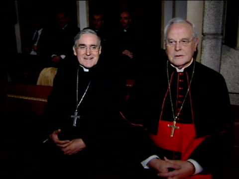 madrid 7 mar cardinal raymond burke archbishop emeritus of st louis and prefect of the supreme tribunal of the apostolic signatura has inaugurated... - cardinal clergy stock videos and b-roll footage