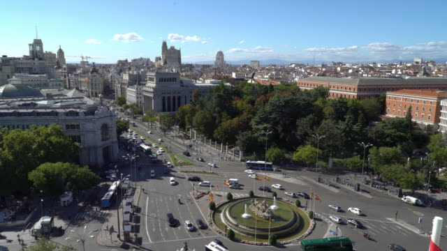 madrid city center aerial view - madrid stock videos & royalty-free footage