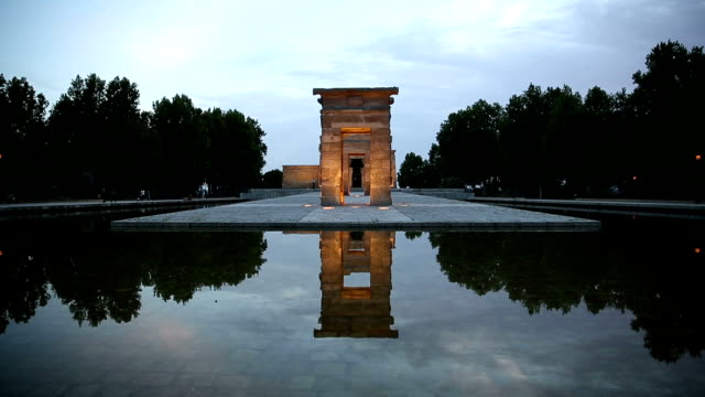 vdo : madrid debod templo temple - isis stock videos and b-roll footage