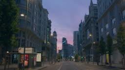Madrid empty Great Schweeps building
