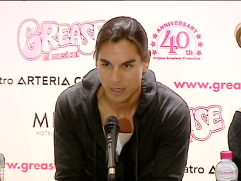 madrid mar 26 singer julio iglesias jr attended today the presentation of the spanish stage version of musical 'grease'in madrid the singer will... - julio iglesias jr stock-videos und b-roll-filmmaterial