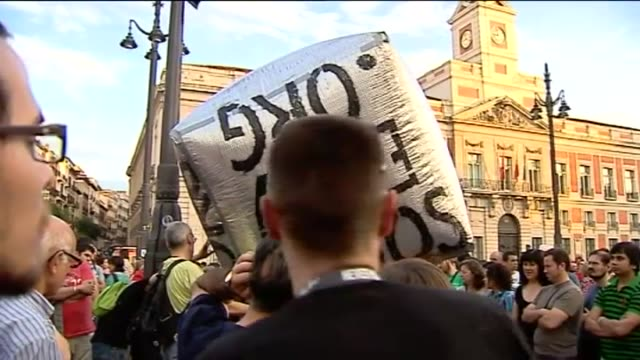 Madrid May 14 Spanish protesters took to the streets over the weekend to mark the oneyear anniversary of their launch of the 15M antiausterity...