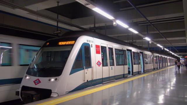 madrid metro - railroad station stock videos & royalty-free footage