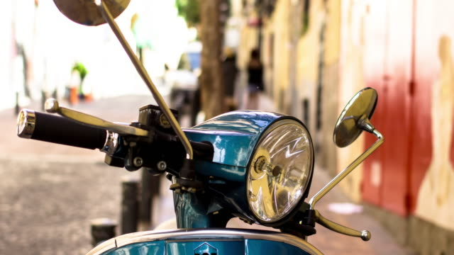 madrid moped - motion timelapse - stationary stock videos & royalty-free footage
