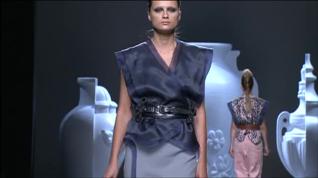 1cdeb8ee9f20 Madrid Sept 3 Spanish designer Ana Locking presented a classic and sensuous  collection of creations for