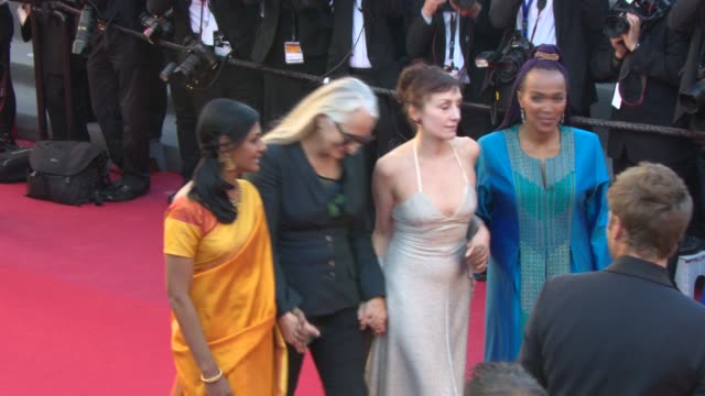 BROLL Mads Mikkelsen Asia Argento Zhang Ziyi Alain Delon Hanne Jacobsen Marine Lorphelin at Closing Ceremony Red Carpet on May 26 2013 in Cannes...