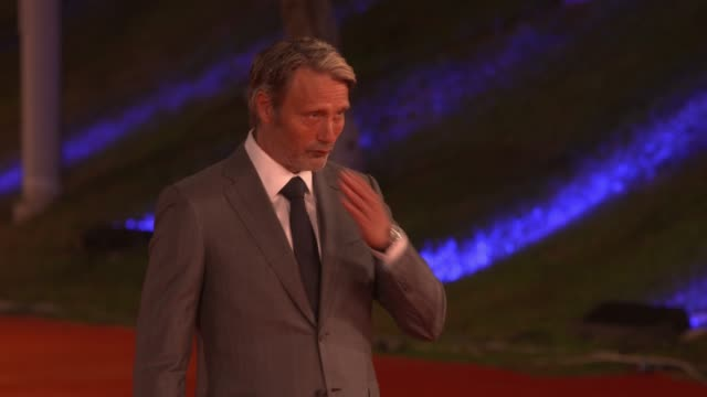mads mikkelsen at 15th rome film festival on october 20, 2020 in rome, italy. - rome film festival stock videos & royalty-free footage