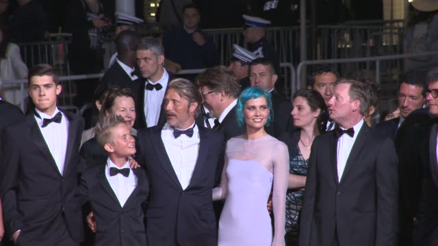 Mads Mikkelsen Eva Green Nanna Oland Fabricius Kristian Levring at 'The Salvation' Red Carpet at Grand Theatre Lumiere on May 17 2014 in Cannes France