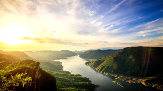 Mae ping national park at sunrise