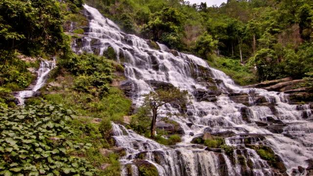 maeya waterfall - ecuador stock videos & royalty-free footage