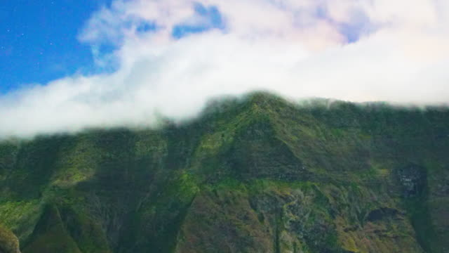 mafate cirque mountains and clouds time lapse - réunion french overseas territory stock videos & royalty-free footage