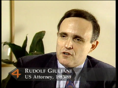 new york rudolf giuliani intvwd sof we must destroy mafia and stop new criminal organisations growing and spreading - mafia stock videos and b-roll footage