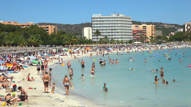 ms magaluf bay at majorca balearic islands / magaluff, majorca, spain - balearic islands stock videos and b-roll footage