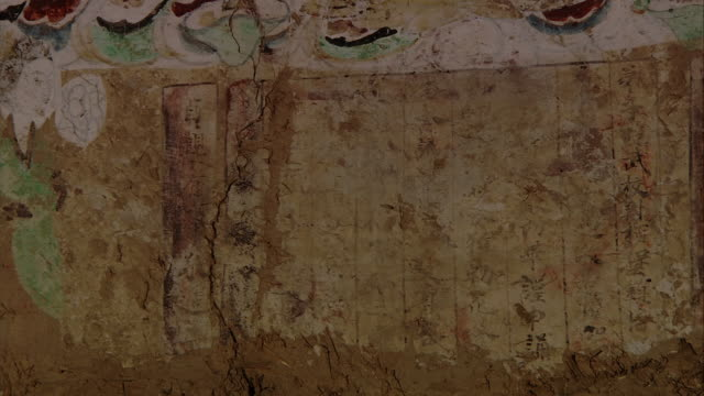 magao caves south district the 220th cave murals the words 'zhengyuan 15' seen in the title - antiquities stock videos & royalty-free footage