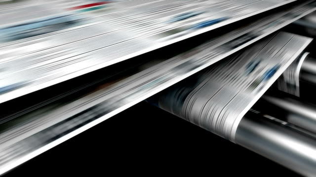 magazine or newspaper printing loop. - advertisement stock videos & royalty-free footage